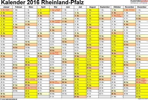 Word Vorlage Kalender 2016 Kalender 2016 Rheinland Pfalz Ferien Feiertage Word Vorlagen