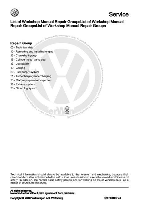car engine manuals 2005 volkswagen passat security system 4 cylinder diesel engine 1 9 l engine vw