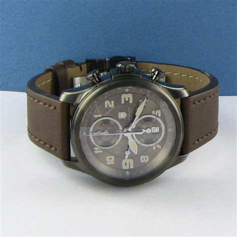 Jam Switch Army swiss army 241520 infantry vintage chronograph mechanical brown 1995 ebay