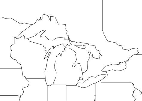 blank us map with great lakes great lakes outline map worldatlas