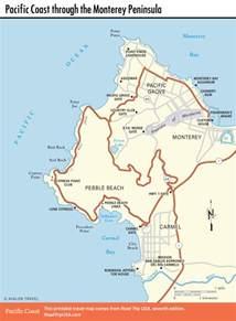 pacific coast route sights in pacific grove california