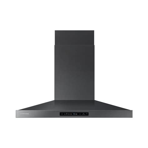 black stainless steel hood fan 36 in wall mounted range hood in black stainless