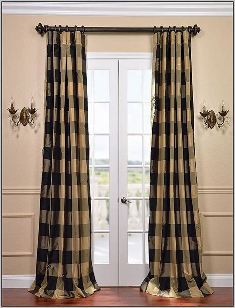 black and brown curtains black and brown plaid curtains curtains home design
