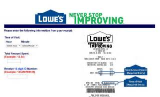 lowes survey guide happy customers review