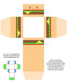 free printable templates for gift boxes don t eat the paste printable cheeseburger gift boxes