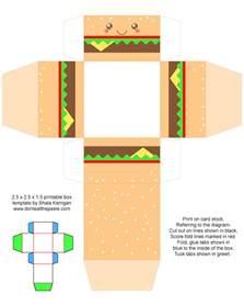 box templates to print don t eat the paste printable cheeseburger gift boxes