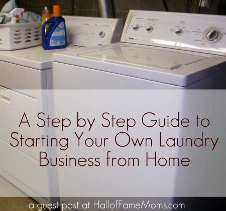 6 steps to starting a laundry business from home