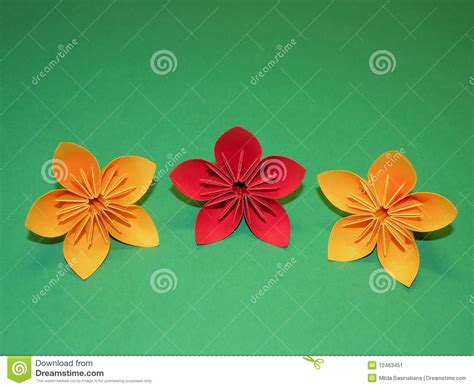 flores origami flores de origami imagem de stock imagem 12463451