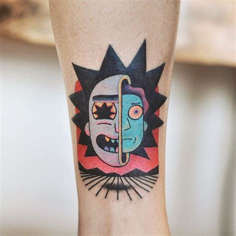 rick and morty tattoo by david cote tattoo life