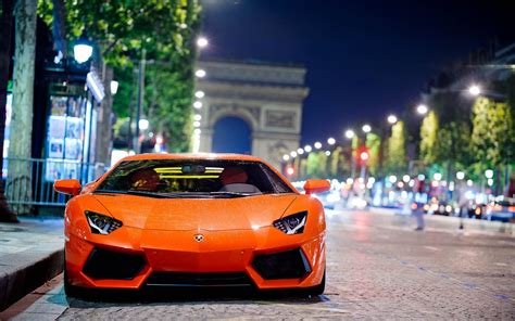Lamborghini Aventador In Orange Lamborghini Aventador Lp700 Orange Color Supercar