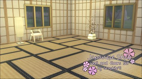 the sims 4 flooring set mod the sims japanese style wall and floor set by