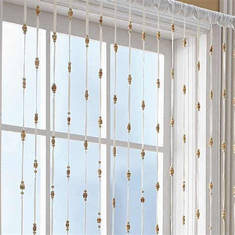 Beaded Window Curtains Croscill 174 Bamboo Bead Jewelry Window Curtain Panel Bed Bath Beyond