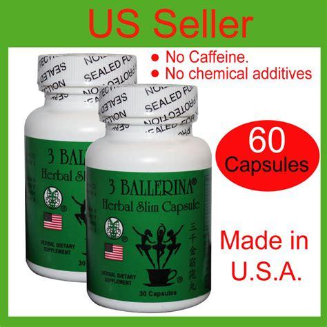 Herbal Slim 60 capsules of authentic 3 ballerina herbal slim capsule pill weight loss diet ebay