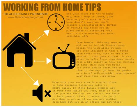 home tips working from home tips the accountancy partnership