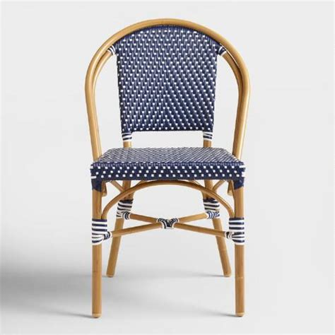 Navy Bistro Chairs Navy Kaliko Bistro Chairs Set Of 2 World Market