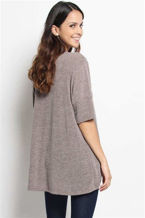 short sleeve drape front cardigan themogan half short sleeve draped open front knit sweater