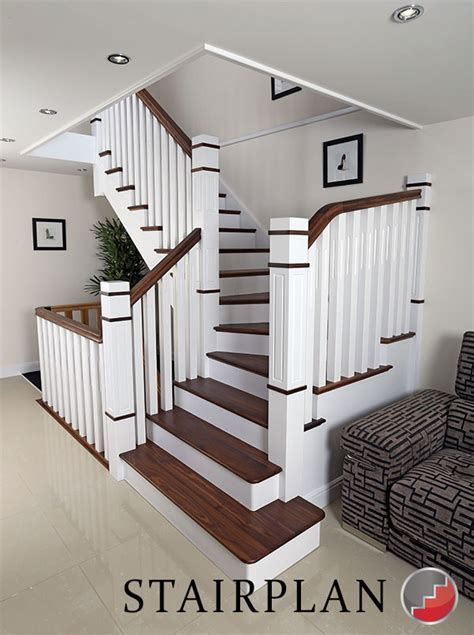 New Stairs Design New Staircase White With Black Walnut