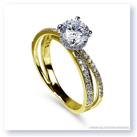 marks and engagement rings silverstein imagines 18k yellow gold split shank