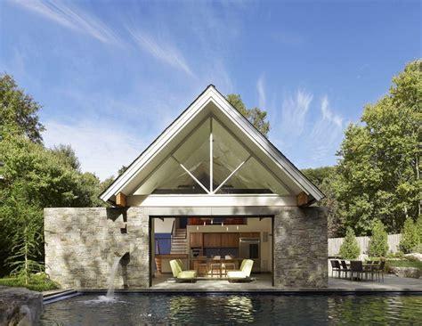 garage pool house pool house that opens via large glass garage door