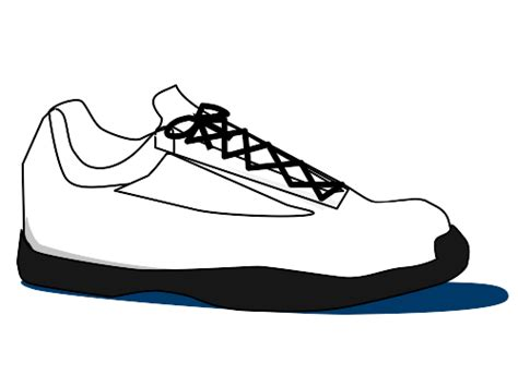 clipart tennis shoe