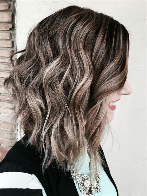 ash brown with ash blonde balayage pictures ash blonde brown balayage hair pinterest ash