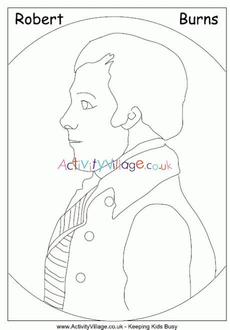 Robert Burns Colouring Page
