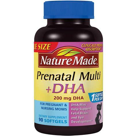 Vitamin Ibu Prenatal Nature Made Multi Dha 150 Softgels usa nature made prenatal multi dha 200mg 150 softgels