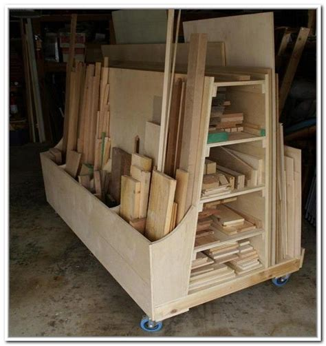 Wood Storage Rack Plans by Rolling Lumber Storage Rack Woodworking Projects Plans