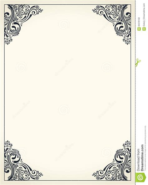 calligraphic border frame design template for wedding