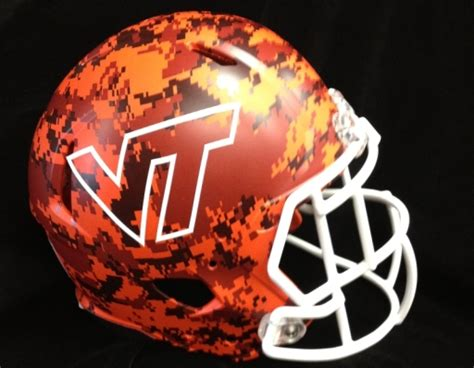 virginia tech to debut turkey camouflage helmets bso