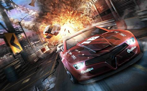 wallpaper game racing smash and explosion behind you split second wallpaper