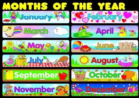 printable months poster months poster worksheet free esl printable worksheets