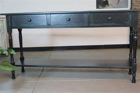 sofa table black black console table in reclaimed wood lake and mountain home