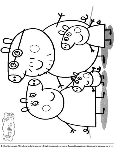 peppa pig valentines coloring pages peppa pig family coloring pages coloring home