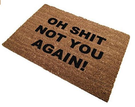 funny door mat awesome personalized floormat design blogging on design