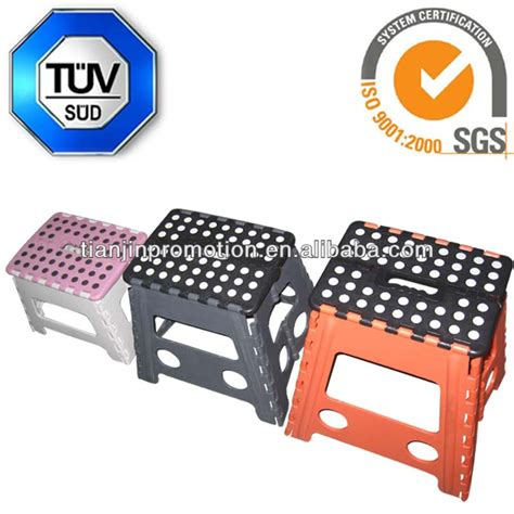 Foldable Step Stool With Handle by Plastic Foldable Step Stool With Handle Portable Plastic