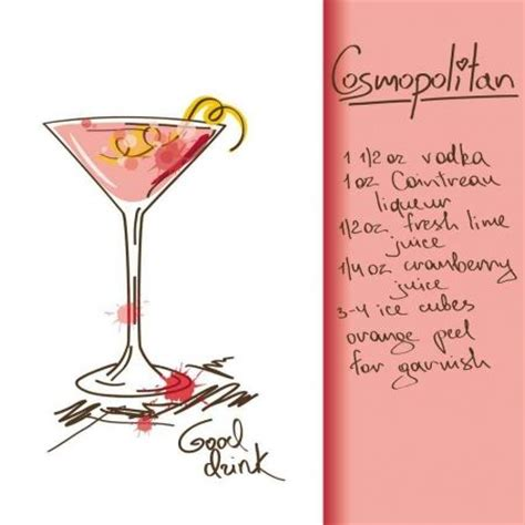 pink cosmopolitan drink 1118 best images about drinks illustrations on pinterest