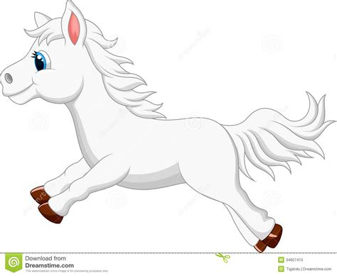 cartoon white pictures of cute cartoon horses images
