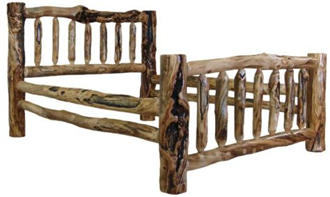 How To Make Rustic Wood Furniture How To Make A Log Bed Frame