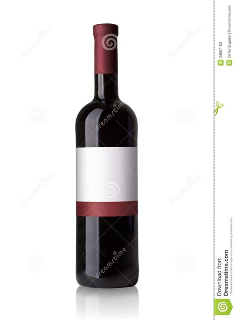 red bottle red wine bottle stock photos image 34857153