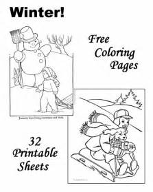 Winter coloring pages and pictures