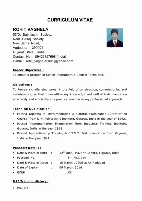 44 unique pictures of diploma mechanical engineering resume format resume sle format