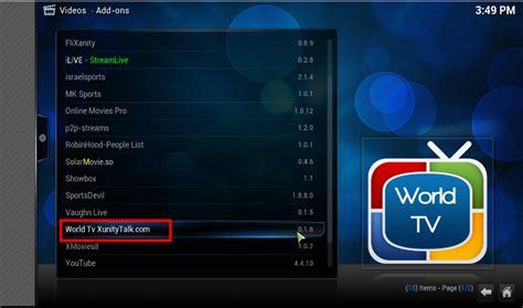 python tutorial xbmc world tv xunitytalk com kodi xbmc add on for watching