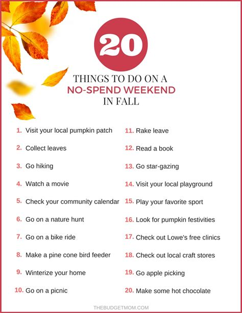 when can you spend your new year money 20 things to do on a no spend weekend in fall the