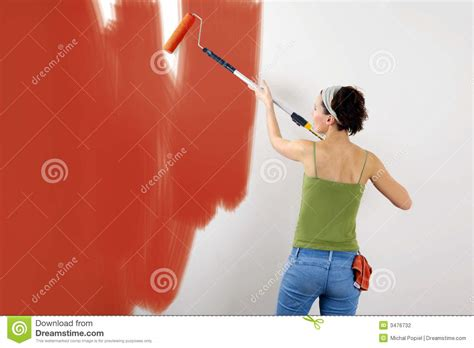 painting a wall painting the wall stock photography image 3476732