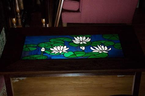 Stained Glass Coffee Table Stained Glass Poplar Coffee Table By Canadajeff Lumberjocks Woodworking Community
