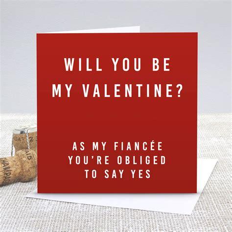will you be my ideas for him fianc 233 be my s day card by slice of