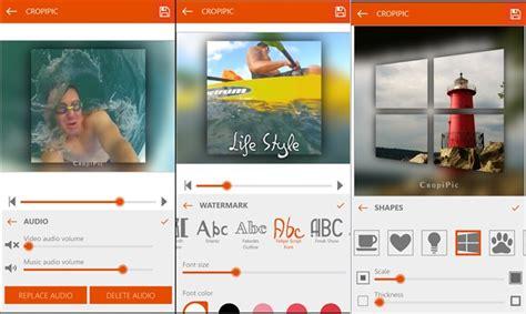 imagenes para windows 10 mobile cropipic simples e poderoso editor de v 237 deos e fotos para