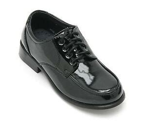 toddler kid boys formal shiny dress shoes wedding birthday school black ebay
