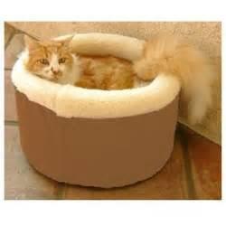 majestic pet medium  cat cuddler pet bed khaki